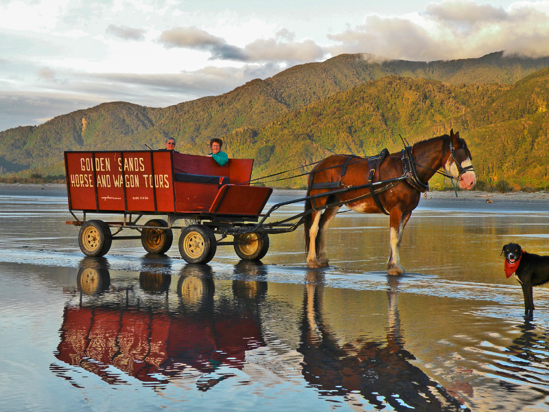 Barrytown, Punakaiki. Wagon on the beach. Photo care of Dawn Patterson.